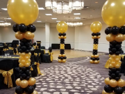 Black and Gold Columns